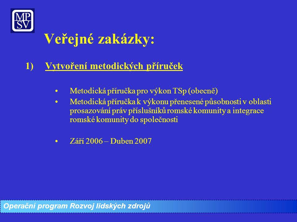 Veřejné zakázky: Vytvoření metodických příruček