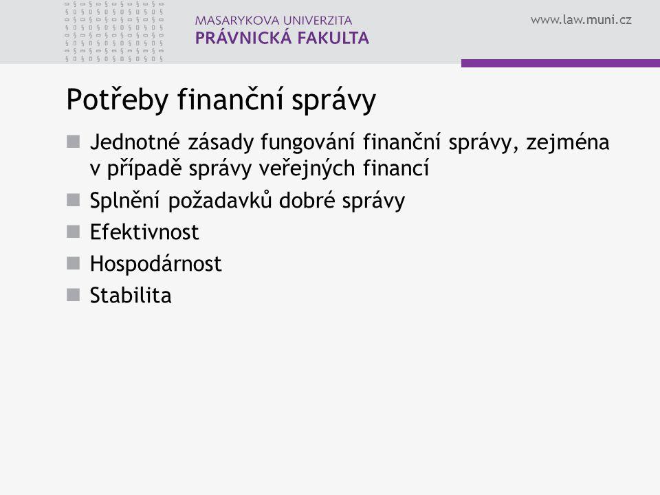 Potřeby finanční správy