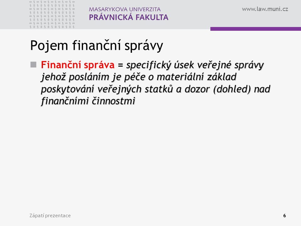 Pojem finanční správy