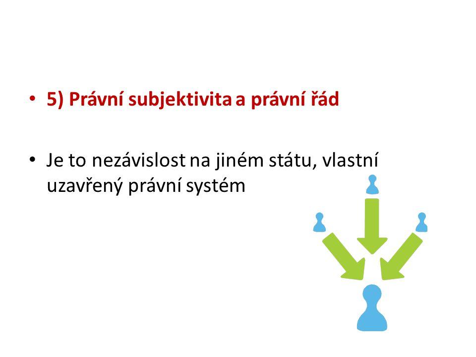 5) Právní subjektivita a právní řád