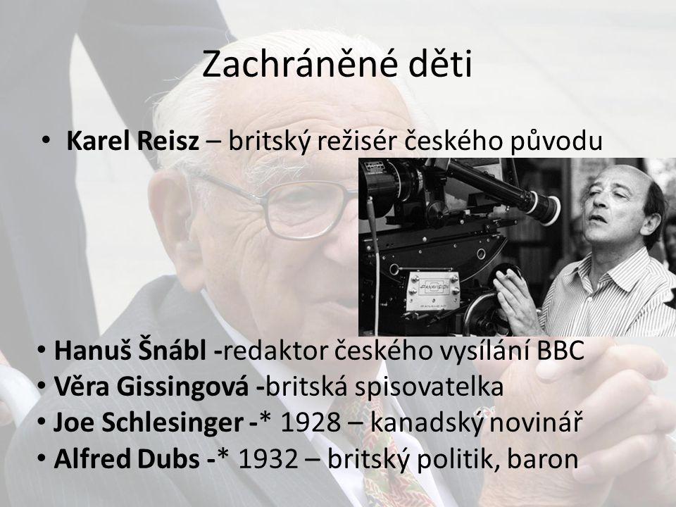 Zachráněné děti Karel Reisz – britský režisér českého původu
