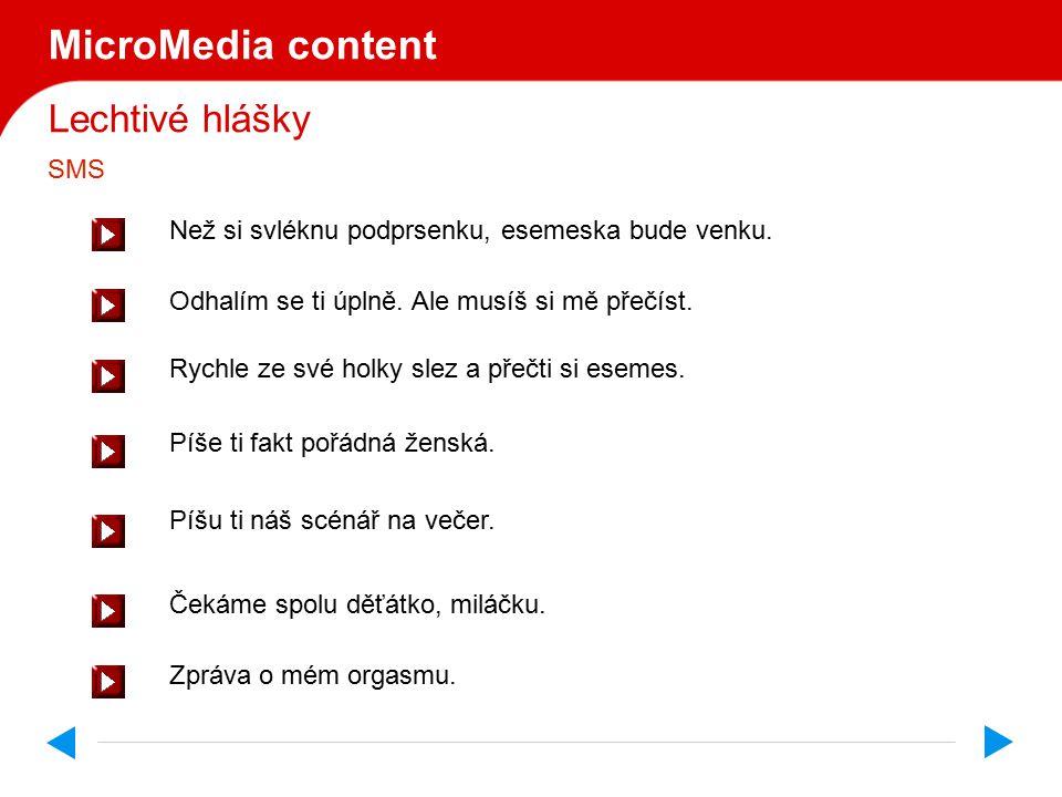MicroMedia content Lechtivé hlášky SMS