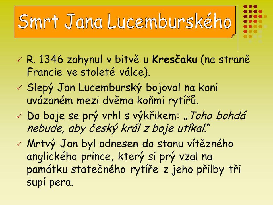 Smrt Jana Lucemburského