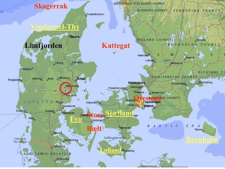Skagerrak Vendsyssel-Thy Limfjorden Kattegat Øresund Sjælland Store