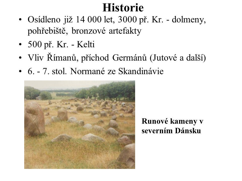 Historie Osídleno již 14 000 let, 3000 př. Kr. - dolmeny, pohřebiště, bronzové artefakty. 500 př. Kr. - Kelti.