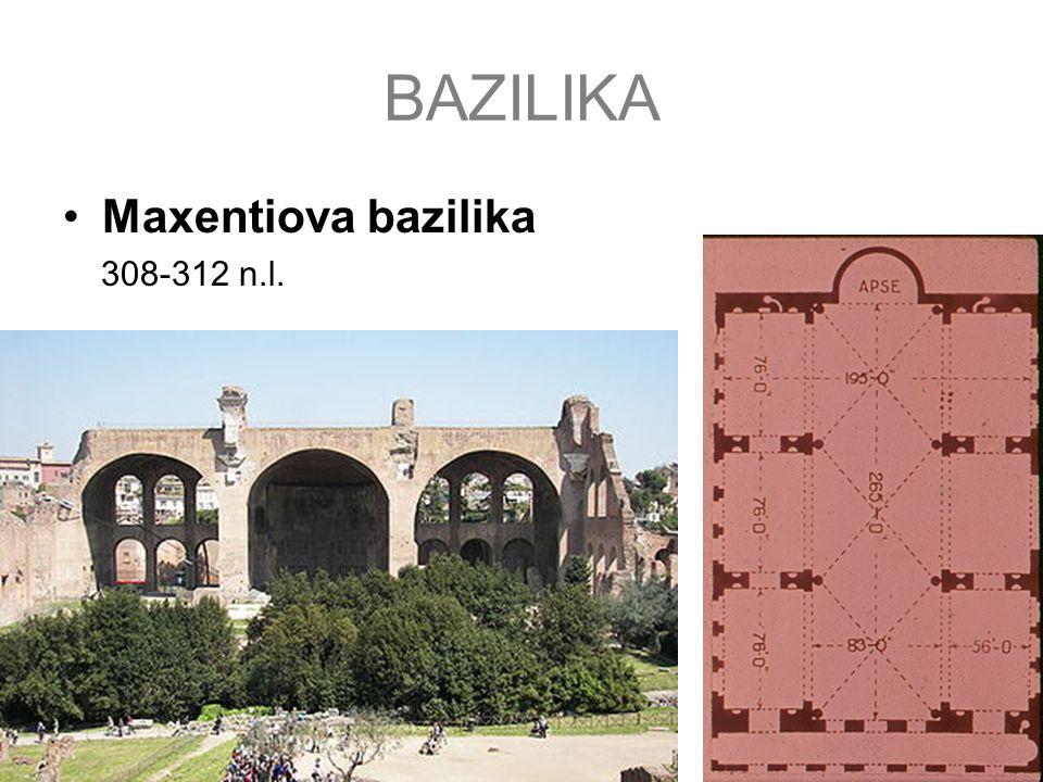 BAZILIKA Maxentiova bazilika 308-312 n.l.
