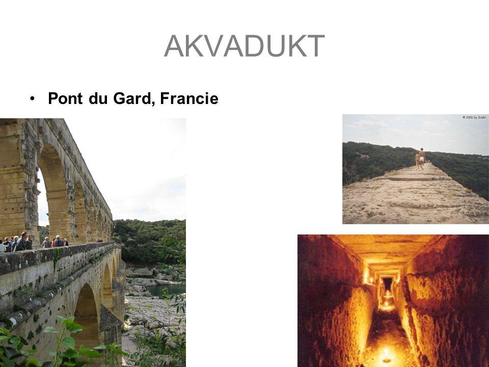 AKVADUKT Pont du Gard, Francie