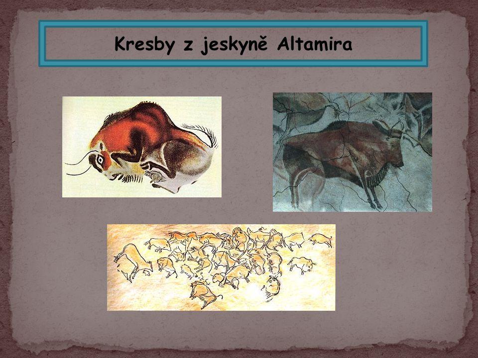 Kresby z jeskyně Altamira