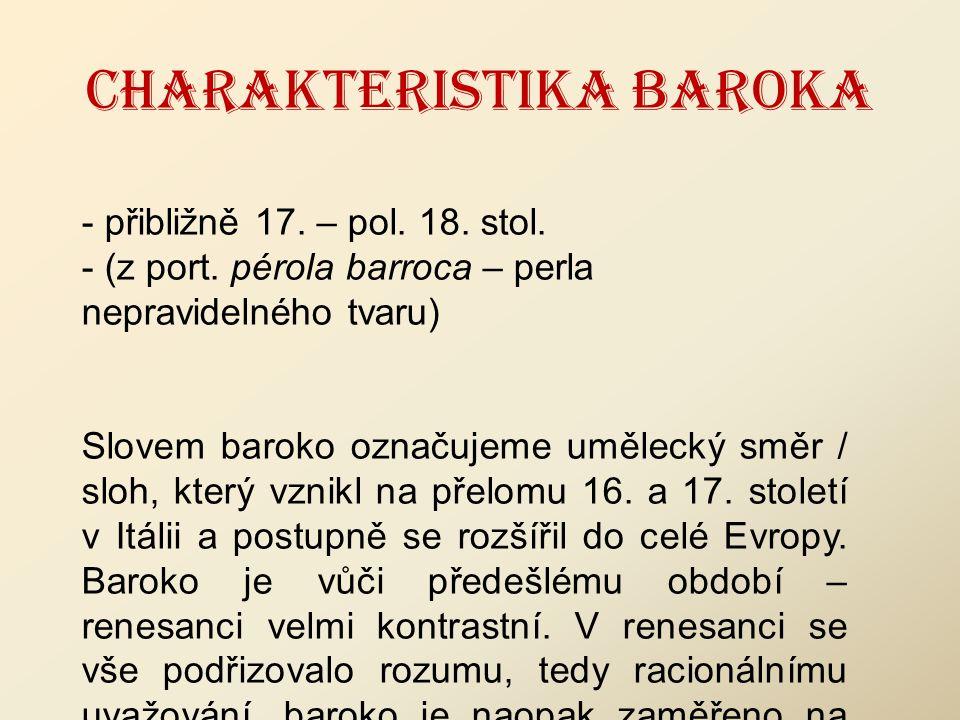 CHARAKTERISTIKA BAROKA