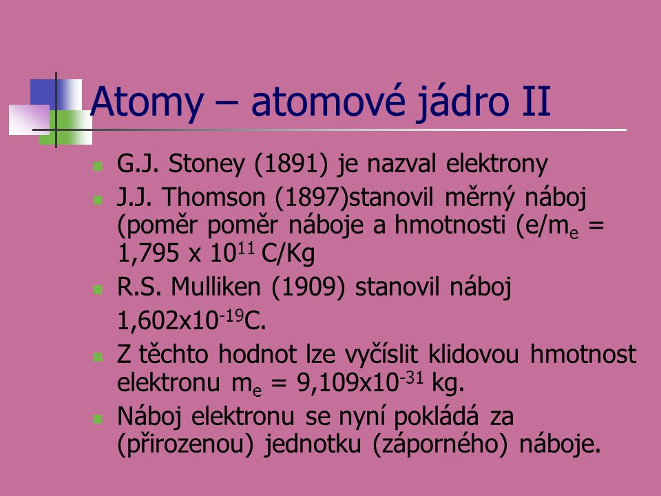 Atomy – atomové jádro II