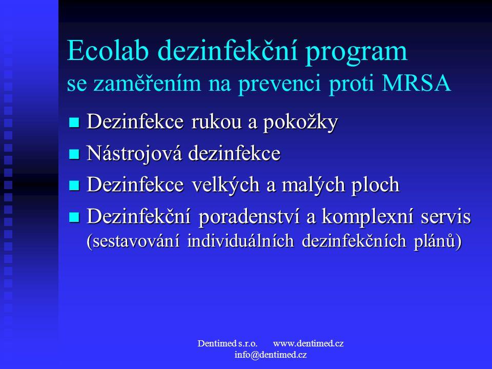 Ecolab dezinfekční program se zaměřením na prevenci proti MRSA