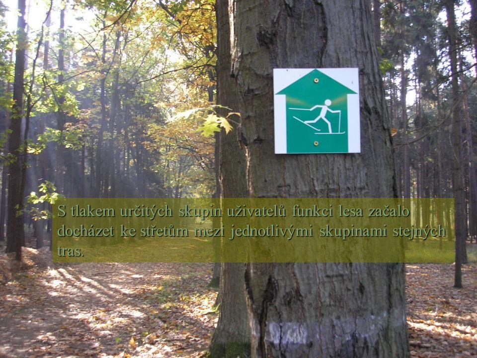 S tlakem určitých skupin uživatelů funkci lesa začalo docházet ke střetům mezi jednotlivými skupinami stejných tras.