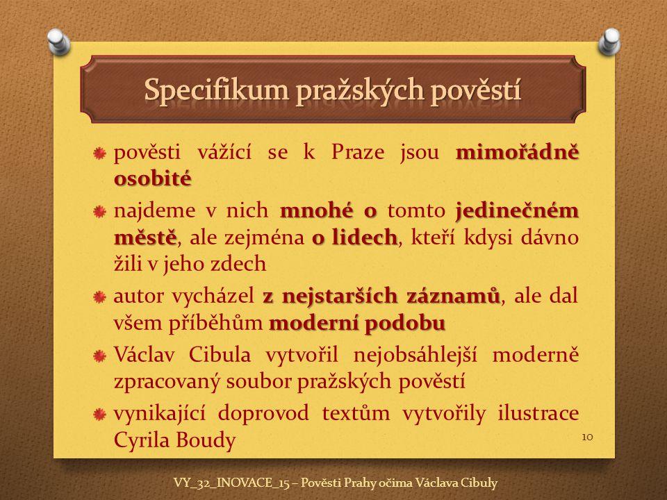 Specifikum pražských pověstí