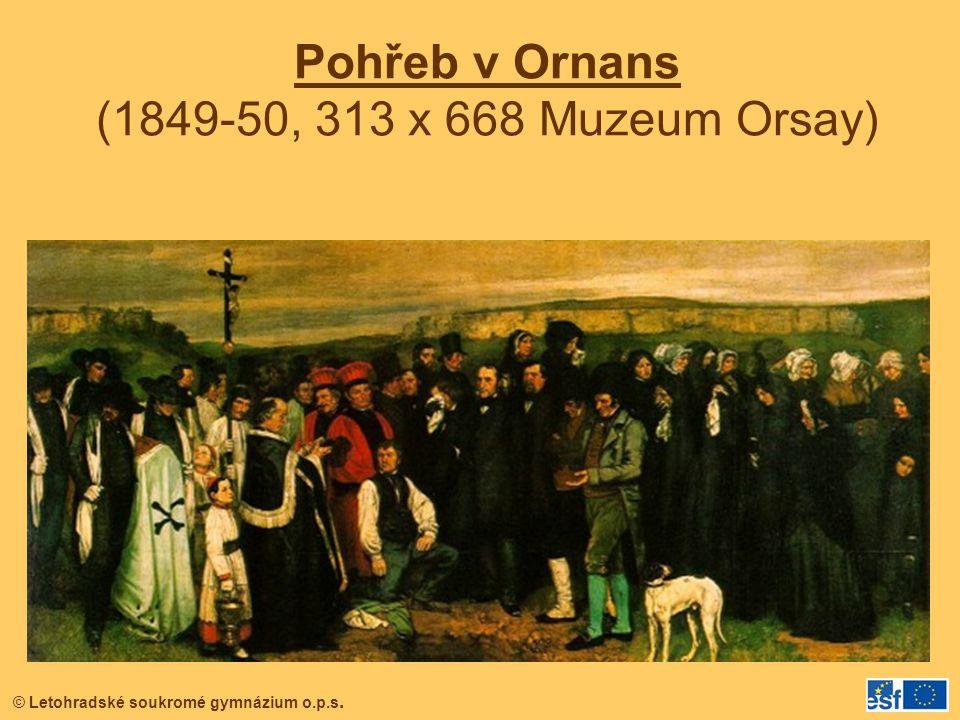 Pohřeb v Ornans (1849-50, 313 x 668 Muzeum Orsay)