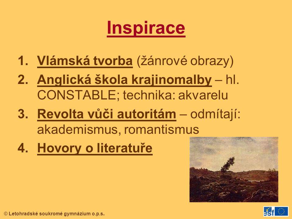 Inspirace Vlámská tvorba (žánrové obrazy)