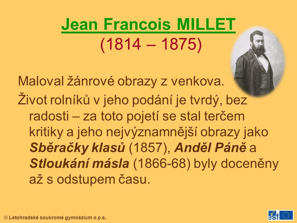 Jean Francois MILLET (1814 – 1875)