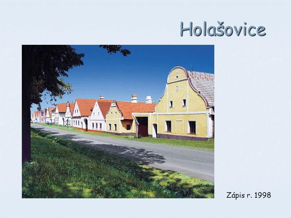 Holašovice Selské baroko. Zápis r. 1998