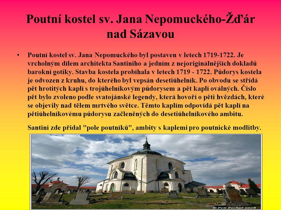 Poutní kostel sv. Jana Nepomuckého-Žďár nad Sázavou