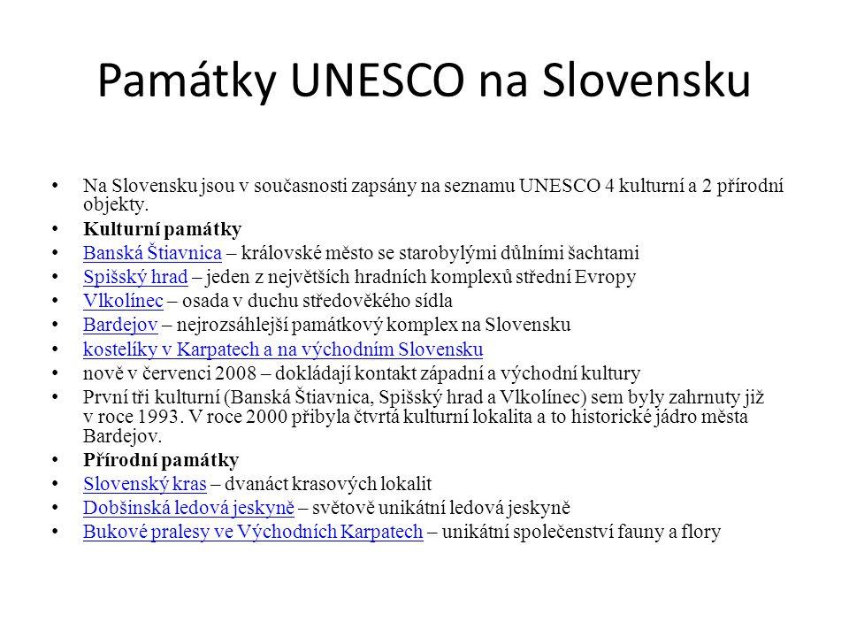 Památky UNESCO na Slovensku