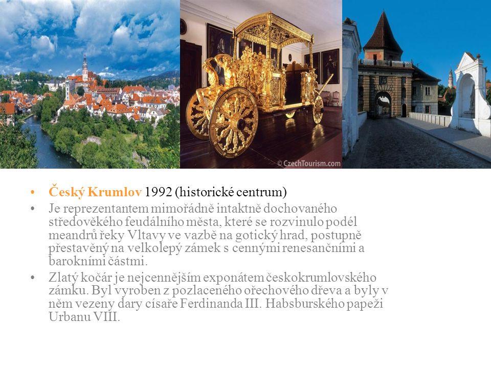 Český Krumlov 1992 (historické centrum)