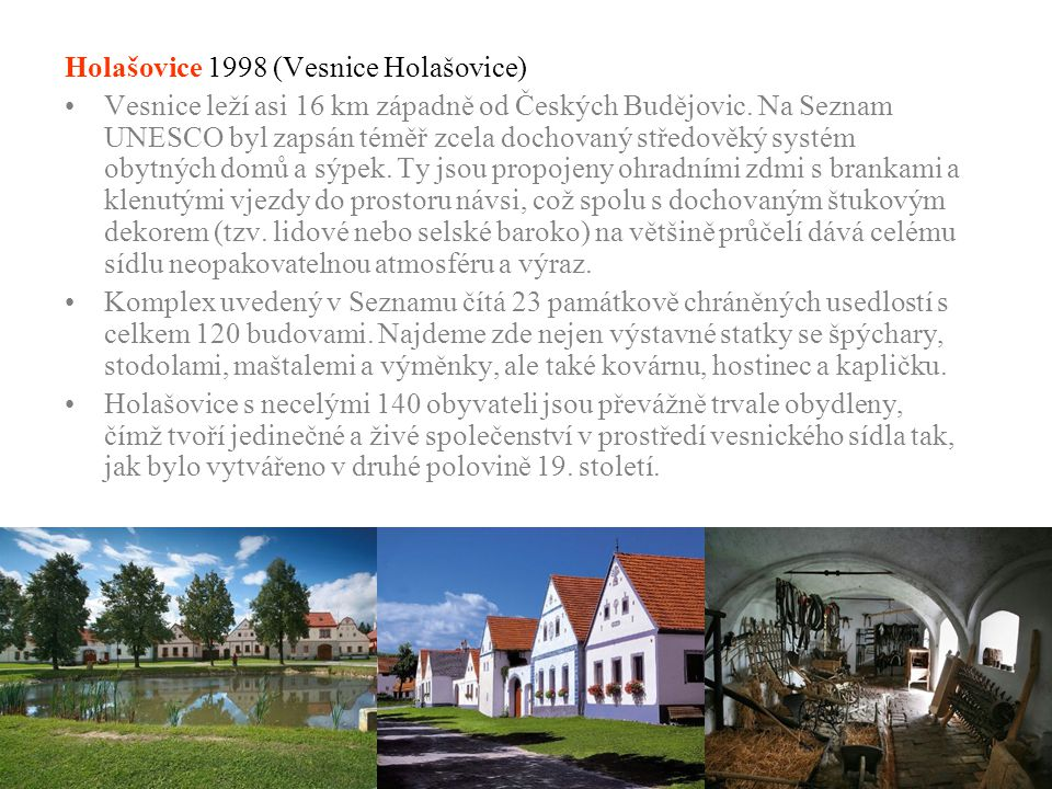 Holašovice 1998 (Vesnice Holašovice)