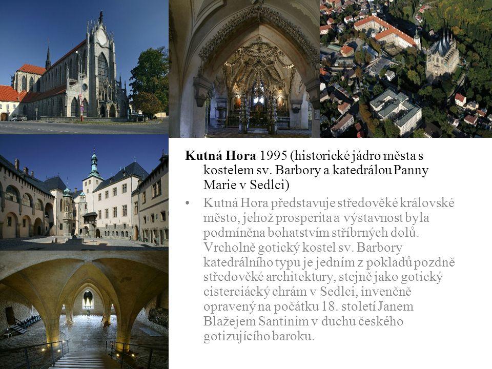 Kutná Hora 1995 (historické jádro města s kostelem sv