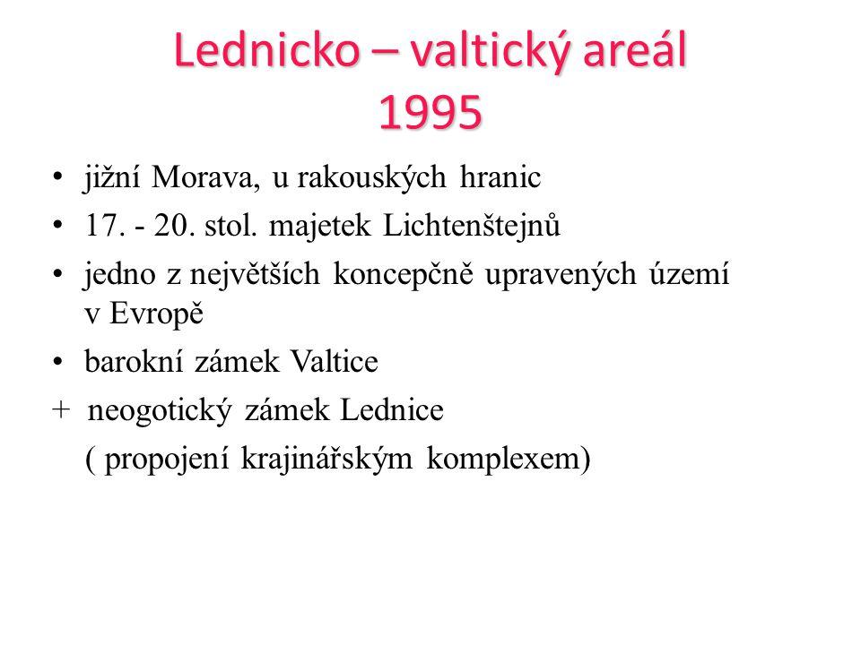 Lednicko – valtický areál 1995