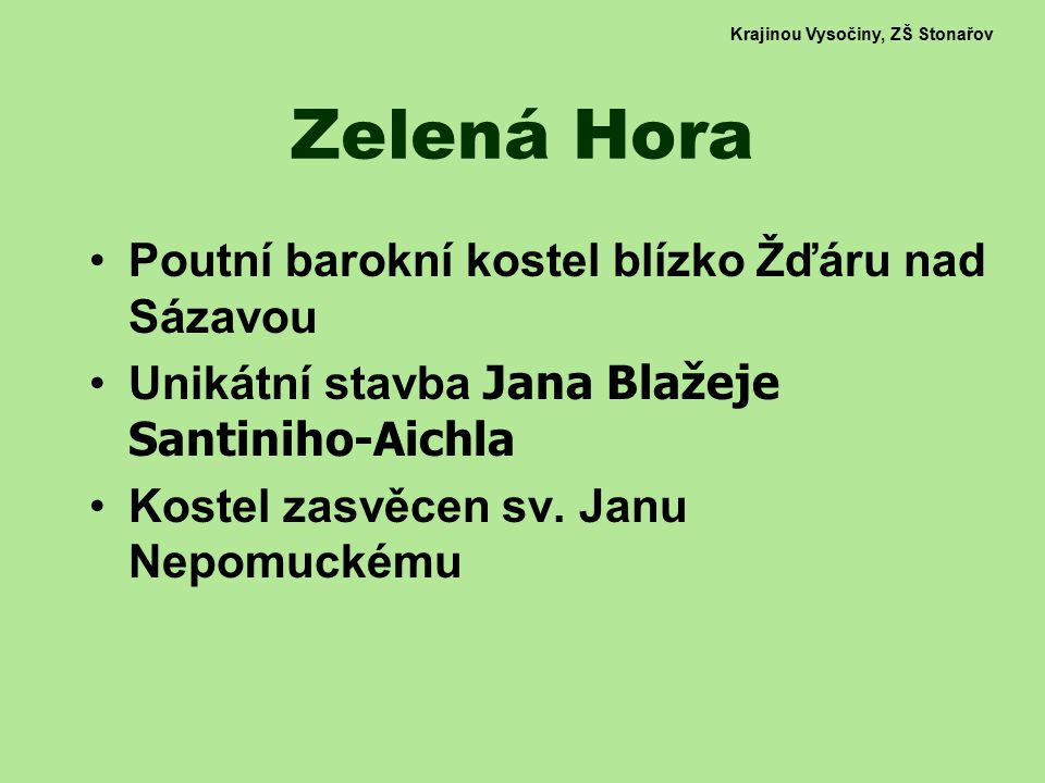Krajinou Vysočiny, ZŠ Stonařov