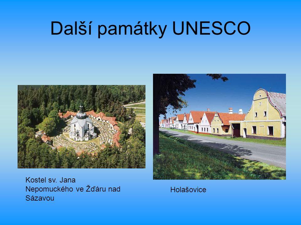 Další památky UNESCO Kostel sv. Jana Nepomuckého ve Žďáru nad Sázavou