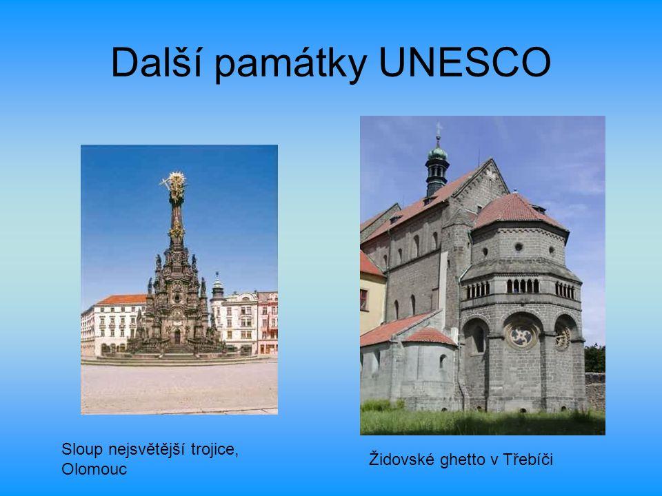 Další památky UNESCO Sloup nejsvětější trojice, Olomouc