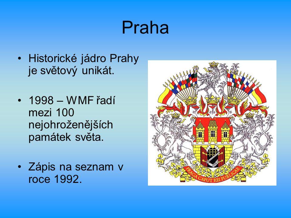 Praha Historické jádro Prahy je světový unikát.