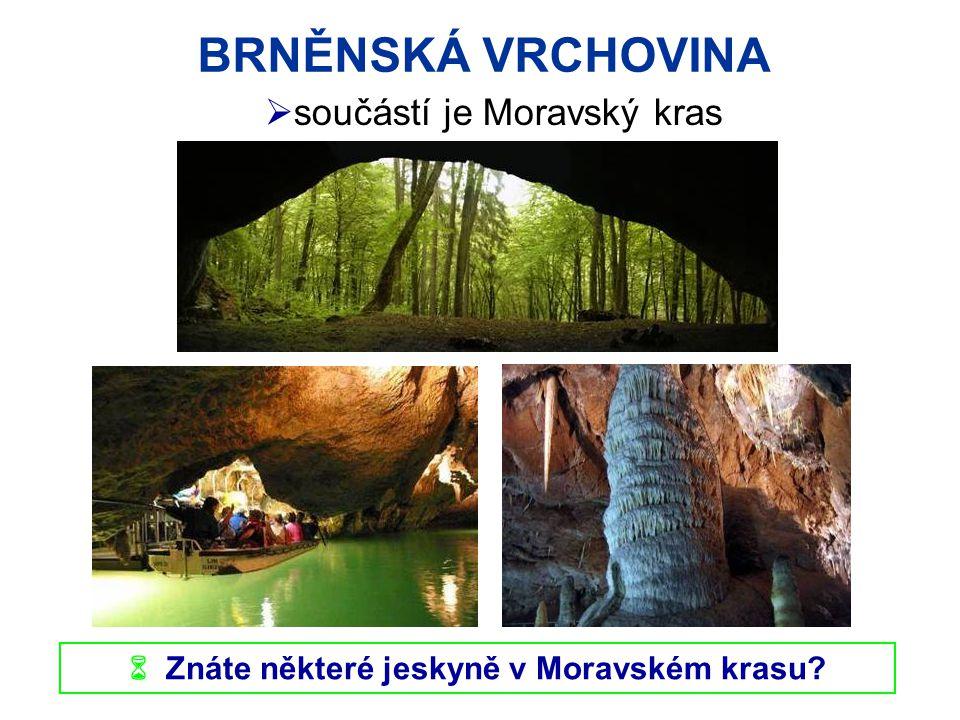  Znáte některé jeskyně v Moravském krasu
