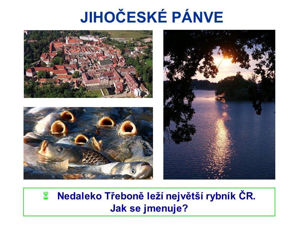  Nedaleko Třeboně leží největší rybník ČR.