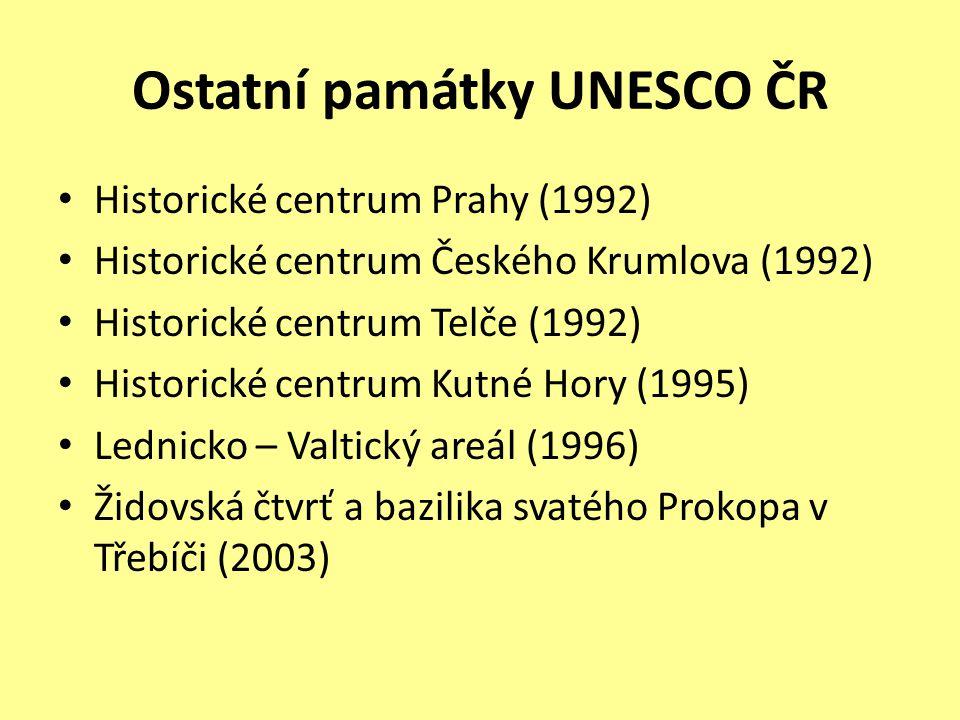 Ostatní památky UNESCO ČR