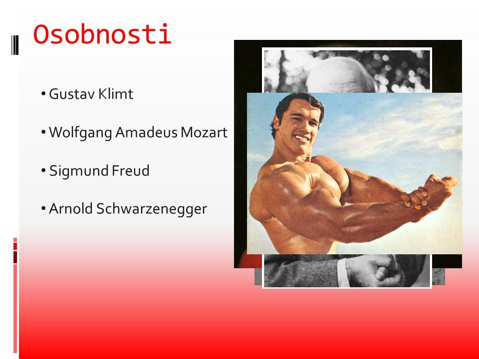 Osobnosti Gustav Klimt Wolfgang Amadeus Mozart Sigmund Freud