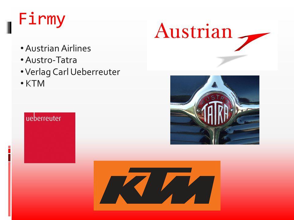 Firmy Austrian Airlines Austro-Tatra Verlag Carl Ueberreuter KTM