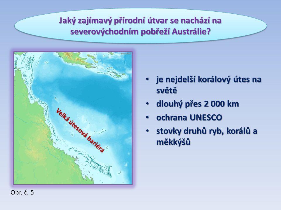 je nejdelší korálový útes na světě dlouhý přes 2 000 km ochrana UNESCO