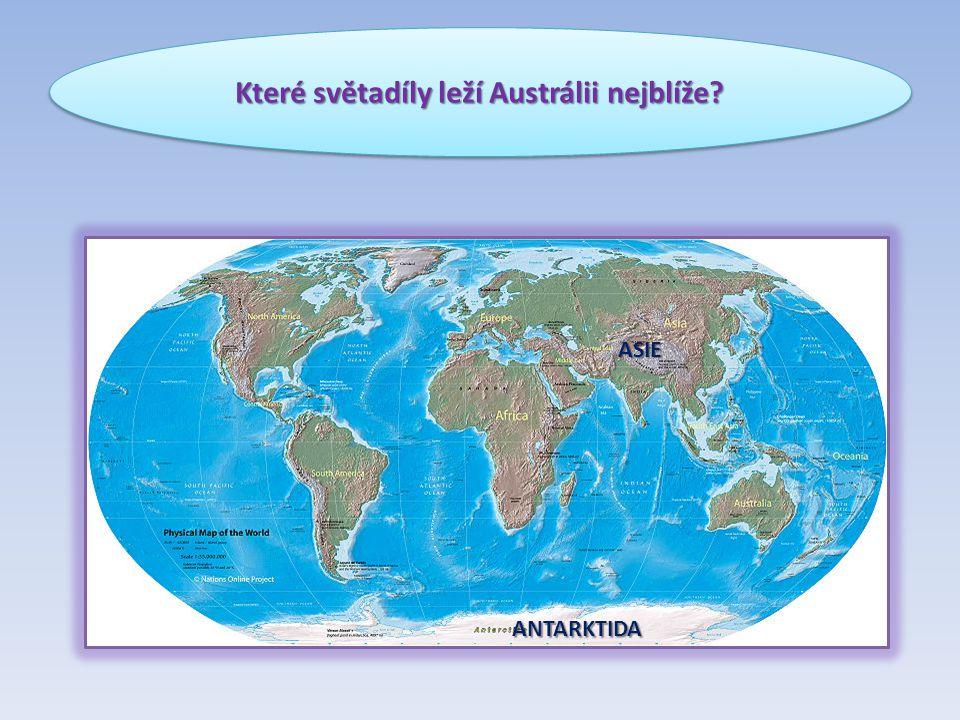 Které světadíly leží Austrálii nejblíže