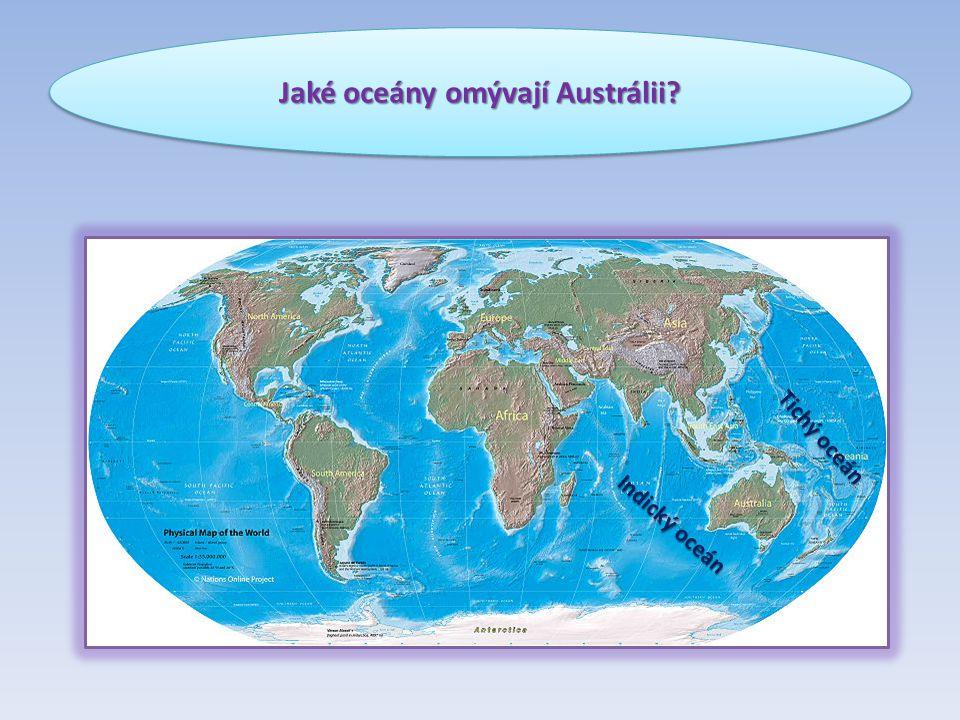 Jaké oceány omývají Austrálii