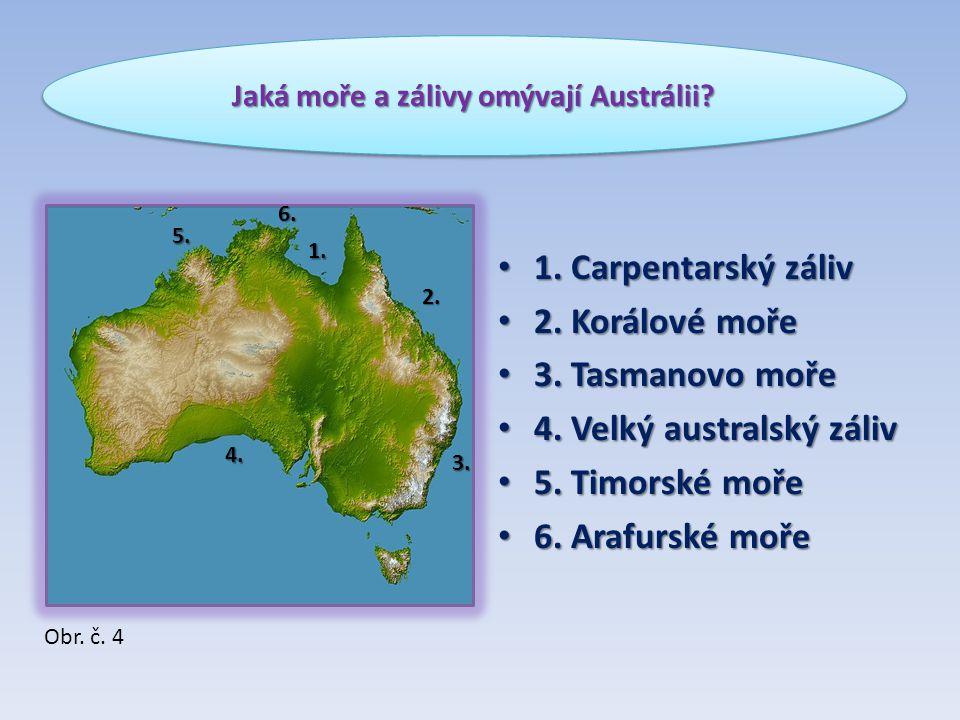 Jaká moře a zálivy omývají Austrálii