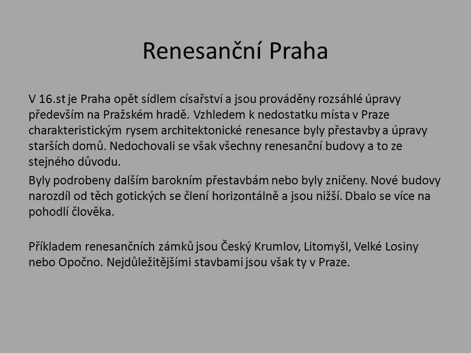Renesanční Praha