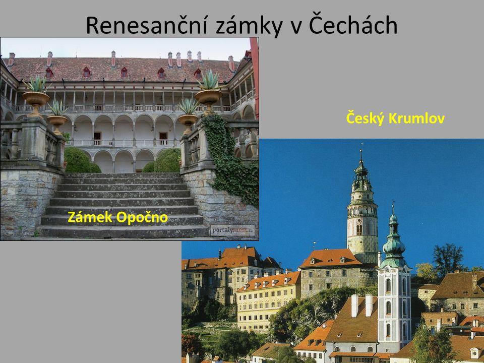Renesanční zámky v Čechách