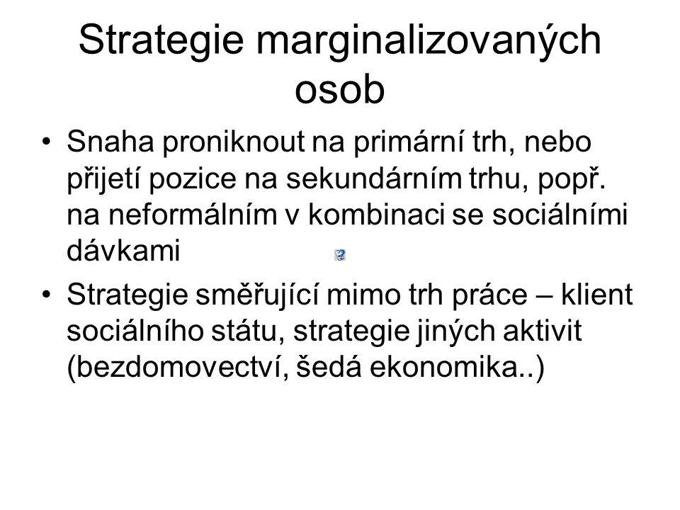 Strategie marginalizovaných osob