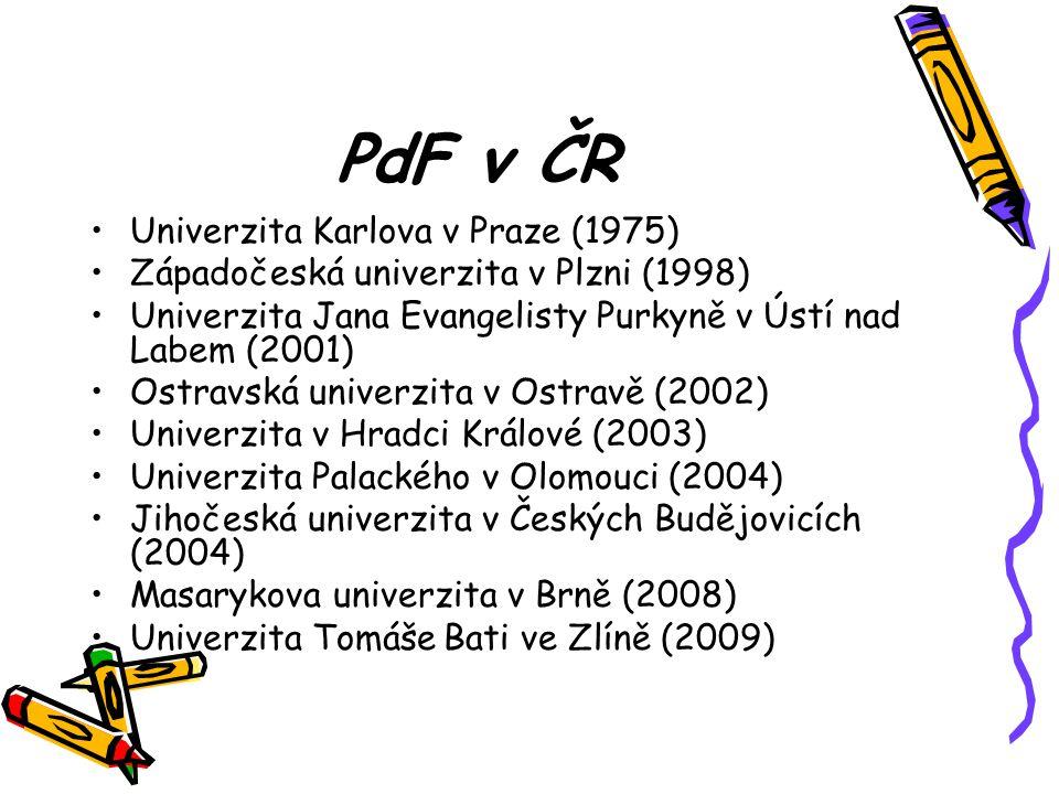 PdF v ČR Univerzita Karlova v Praze (1975)