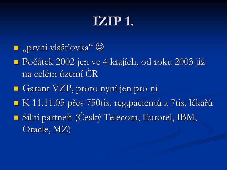 """IZIP 1. """"první vlašťovka """