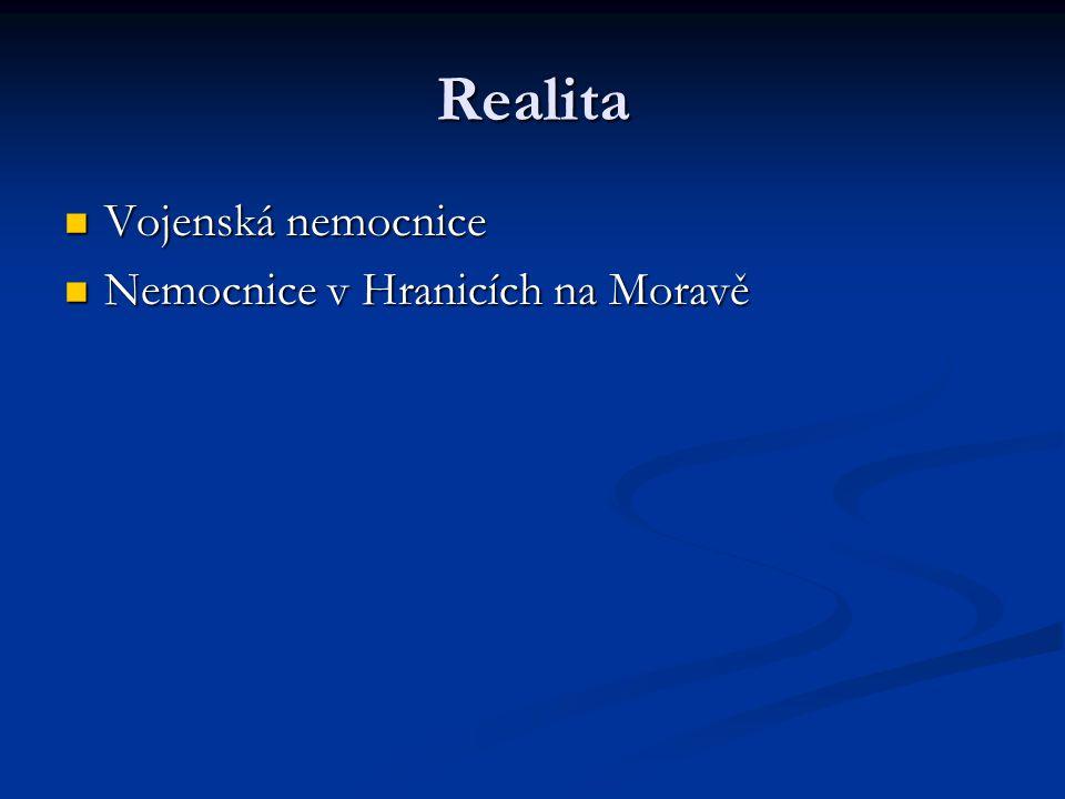 Realita Vojenská nemocnice Nemocnice v Hranicích na Moravě