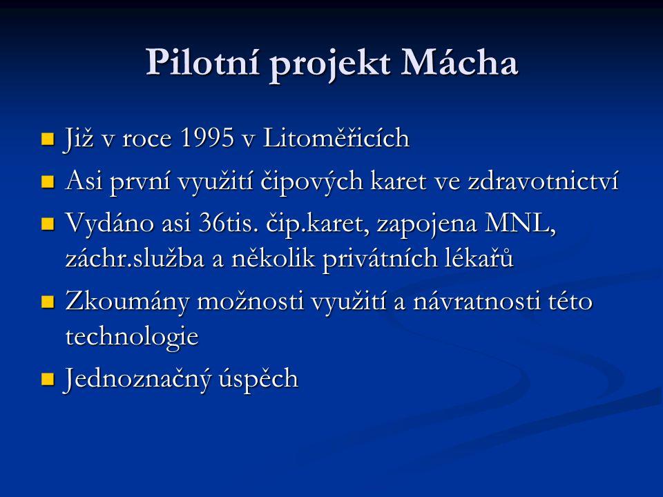 Pilotní projekt Mácha Již v roce 1995 v Litoměřicích