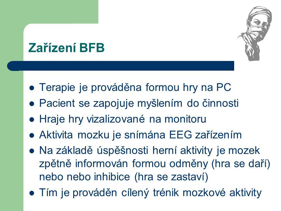Zařízení BFB Terapie je prováděna formou hry na PC