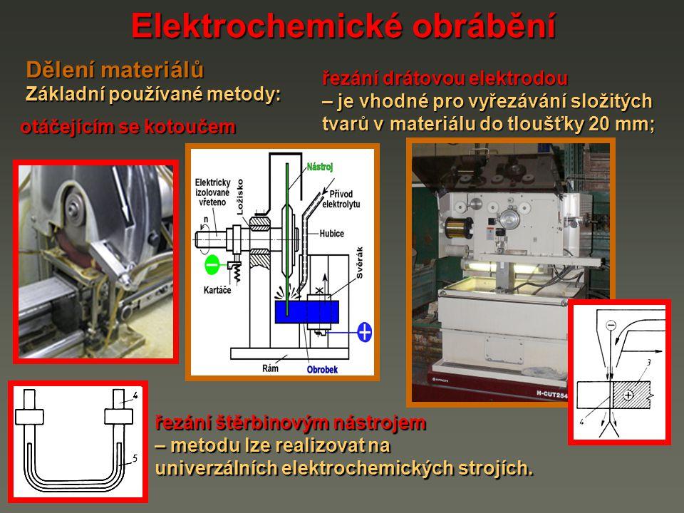 Elektrochemické obrábění