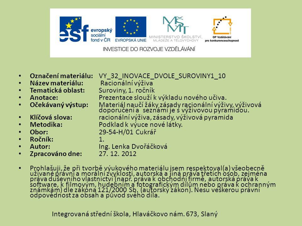 Označení materiálu: VY_32_INOVACE_DVOLE_SUROVINY1_10